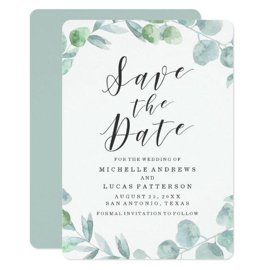 Delicate Wreath | Save The Date Announcement