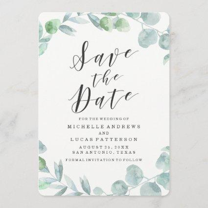 Delicate Wreath | Save The Date Announcements