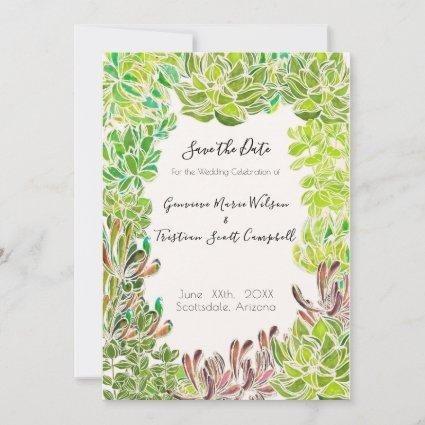 Desert Theme Wedding - Save the Date Card
