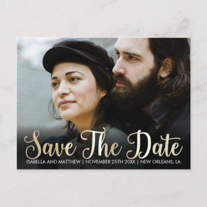 Design Your Own Champagne Save The Date Pic Announcement