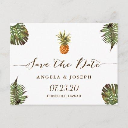Destination Save the Date | Tropical Pineapple Announcements Cards
