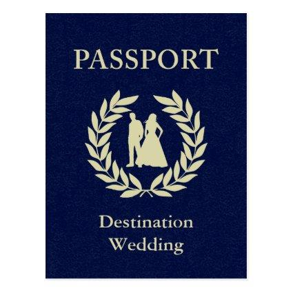 destination wedding passport Cards