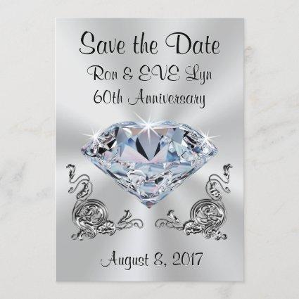 Diamond Anniversary Save the Date , Your Text