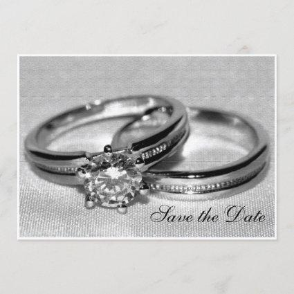 Diamond Wedding Ring Set Save the Date