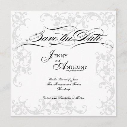 DIY Elegant Save the Date in Black and White