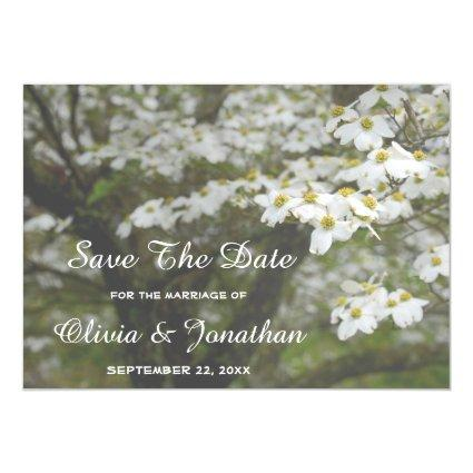 Dogwood Tree Blooms Country Wedding Save The Date Magnetic Invitation