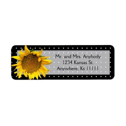 Dotted Sunflower Label
