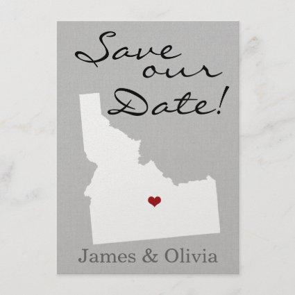 Double Side Save the Date with ID State