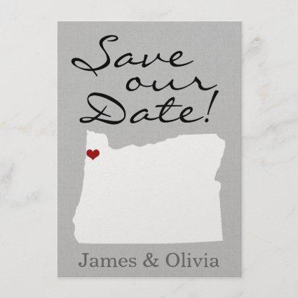 Double Side Save the Date with OR State