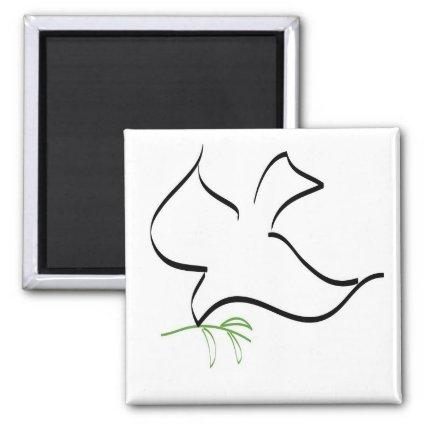 Dove and Olive Branch Image Magnets
