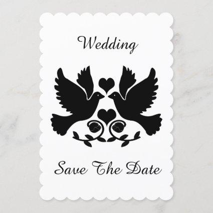 Dove Black And White Wedding Save The Date