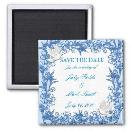 Dove Custom Save The Date Magnets
