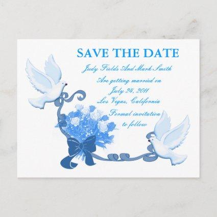 Dove Custom Save The Date Cards