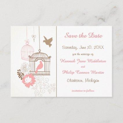 Doves & Cages - 3x5 Save the Date