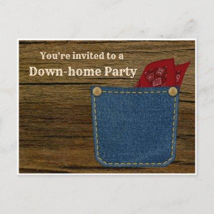 Down-home BBQ, Block, Picnic, or Cookout Party Invitation