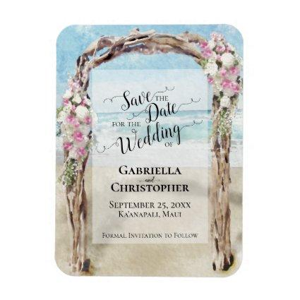 Driftwood Beach Arbor Wedding Save the Date Magnet