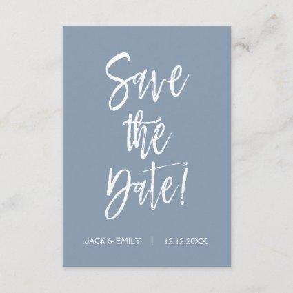 Dusty Blue Save the Date Card