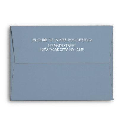 Dusty Blue Wedding or Save the Date Envelope
