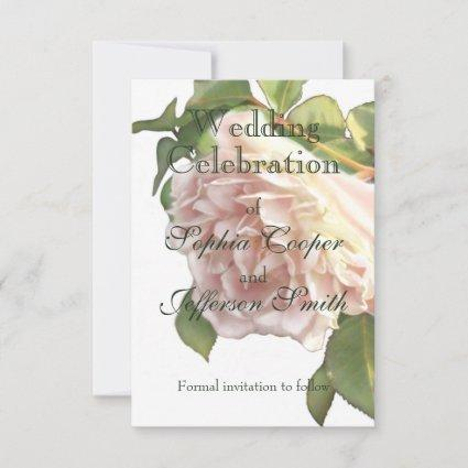 Dusty Ivory  Rose Save The Date