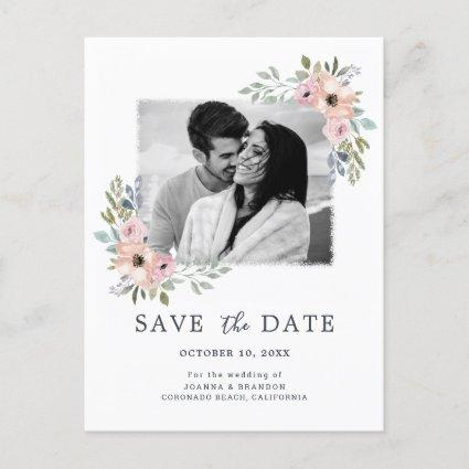 Dusty Pink Roses Midsummer Floral Save the Date Holiday