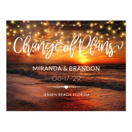 Elegant Beach Summer Wedding Change of Plans