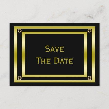 Elegant Black & Gold  Man's 60th Save The Date