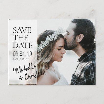Elegant Chic Photo Wedding Save the Date Custom Announcements Cards