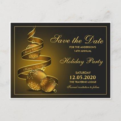 Elegant Christmas And Holiday Party Save The Date Announcements Cards