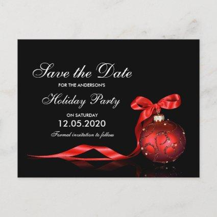 Elegant Christmas And Holiday Party Save The Date Announcement