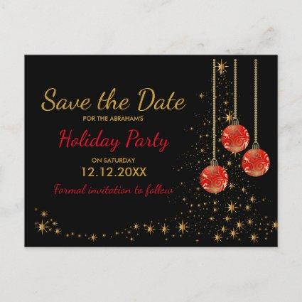 Elegant Christmas Party Save the Date Announcement