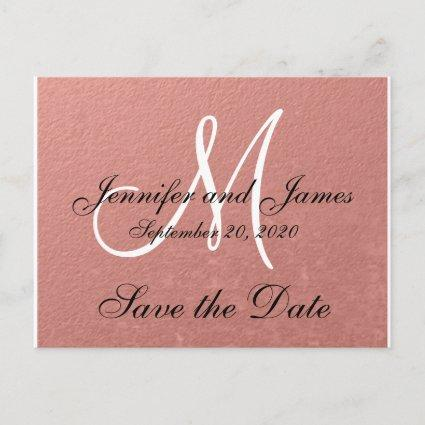 Elegant Faux Rose Gold Foil Save the Date Announcements