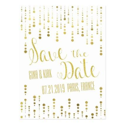 Elegant Gold and White Cards