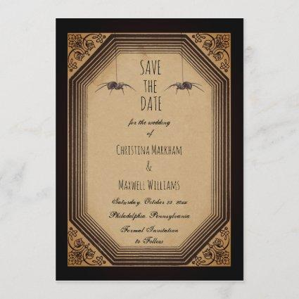 Elegant Gothic Deco Frame Cornices Save the Date