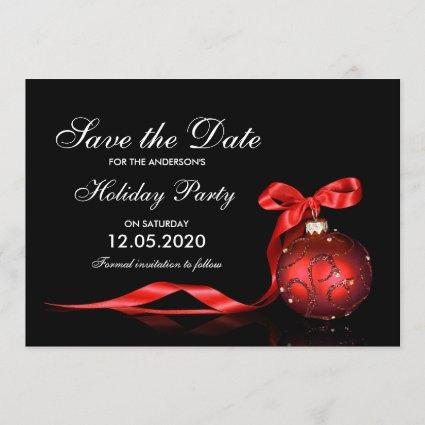 Elegant Holiday And Christmas Party Save The Date