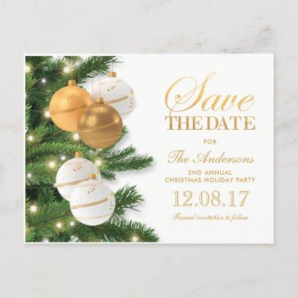 Elegant Holiday Christmas Party Save the Date Announcement