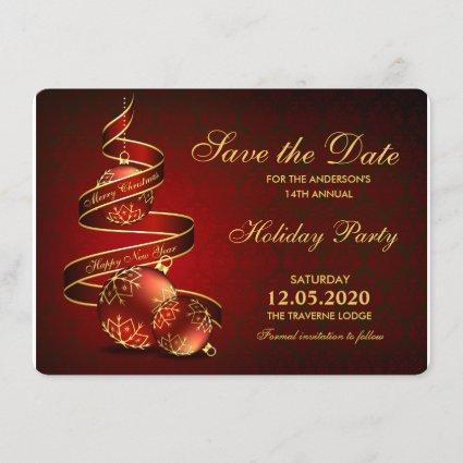 Elegant Holiday Party Invitations Save The Date