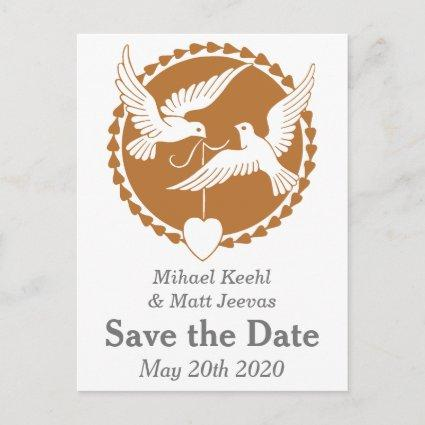Elegant Love Doves Save the Date Cards