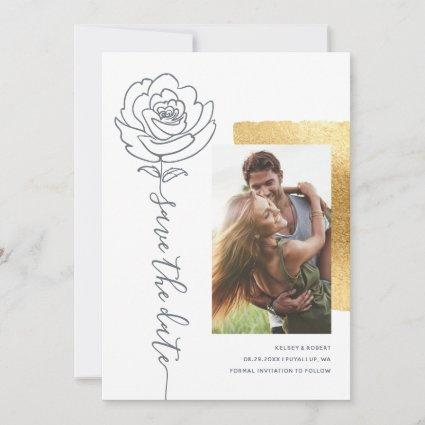 Elegant Modern Wedding Save the Date Invitations