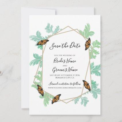 Elegant Monarch Butterfly Wedding Save The Date