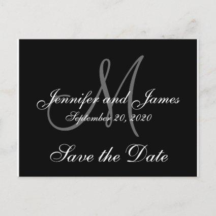 Elegant Monogram Save the Date Announcement