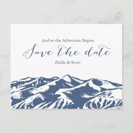 Elegant Mountain Wedding Save the Date Card