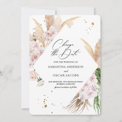 Elegant Orchids & Pampas Beauty Frame  Save The Date