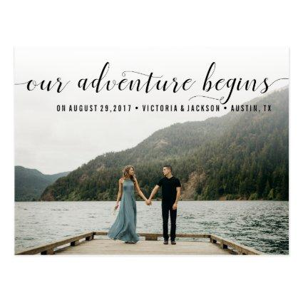 Elegant Our Adventure  Photo Cards