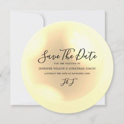 Elegant Pearl Simple Chic Save The Date