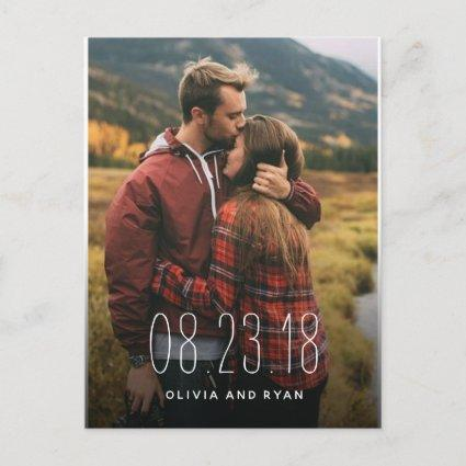 Elegant photo wedding save the date Announcements Cards
