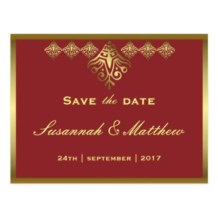 Elegant Red and Gold Wedding Cards