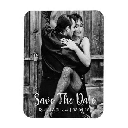 Elegant Save the Date Magnet | Script