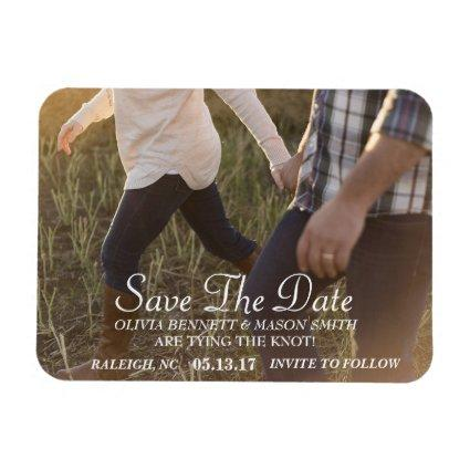 Elegant Script | Custom Photo Save the Date Magnets