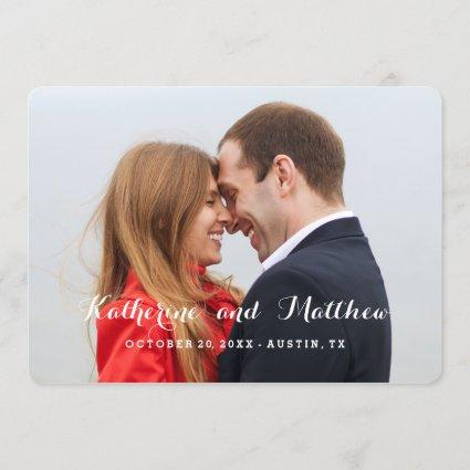 Elegant Script | Save the Date Photo Card