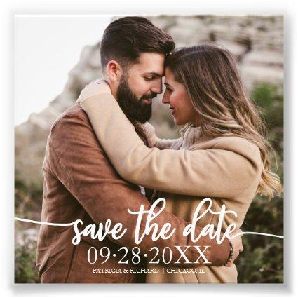 Elegant Script Wedding Budget Save The Date Photo